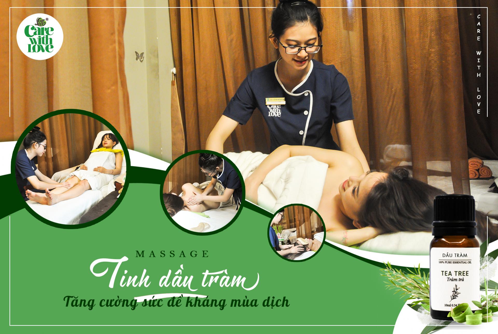 Liệu pháp massage chuyên sâu tinh dầu tràm – Tăng cường sức đề kháng mùa dịch!