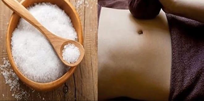 Chườm nóng với muối sao giảm mỡ bụng