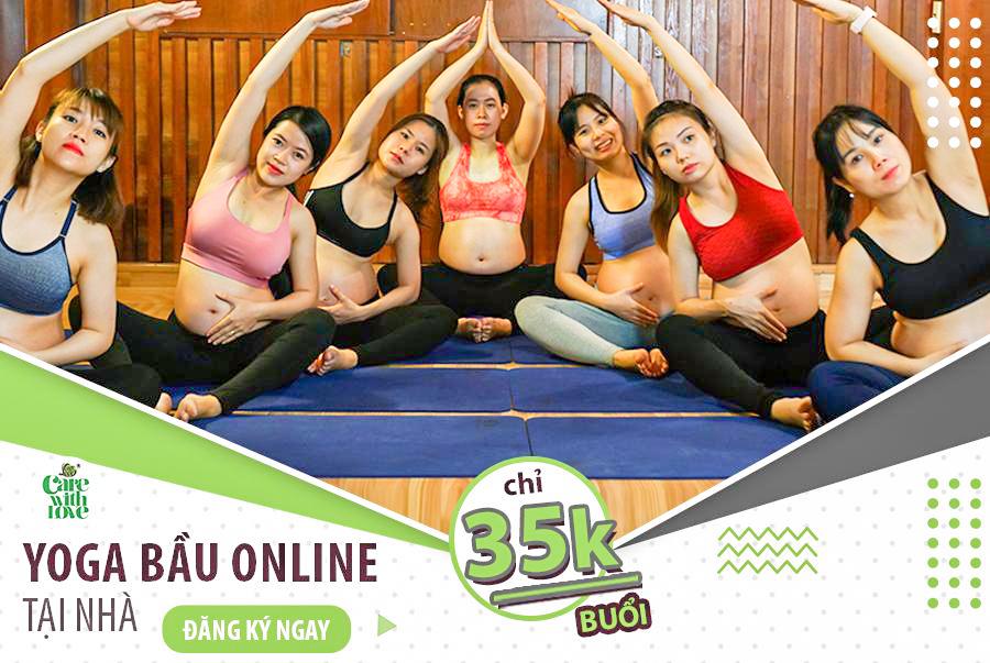 CHỈ 35K/ buổi – Trọn gói khoá học Yoga bầu Online tới lúc sinh